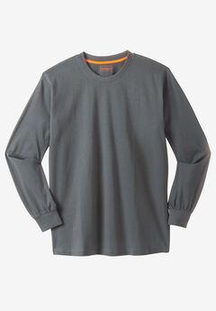 Boulder Creek® Heavyweight Long-Sleeve No Pocket Crewneck Tee,