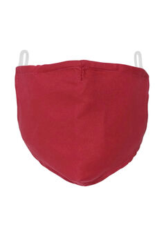 2-Layer Extra Large Reusable Cotton Face Mask - Men's, RICH BURGUNDY