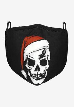 2-Layer Extra Large Reusable Cotton Face Mask - Men's, SANTA SKULL