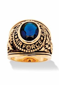Gold-Plated Sapphire Air Force Ring,