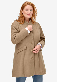 Fit & Flare Wool Coat,