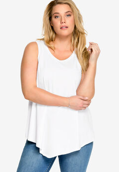 V-Neck Pointed Front Tank by ellos®,