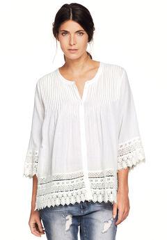 Crochet Trim Blouse by ellos®,