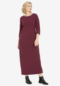3/4 Sleeve Knit Maxi Dress by ellos®,