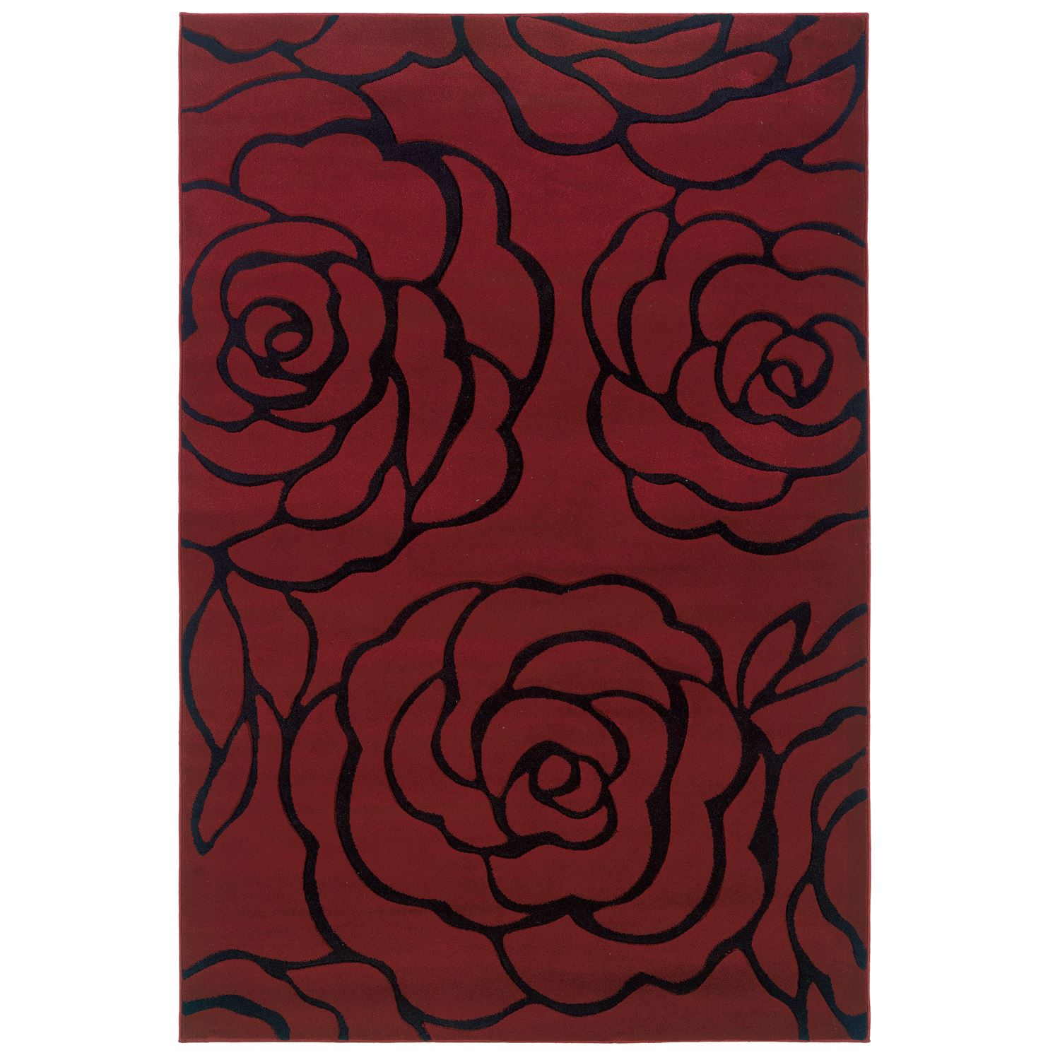 Milan Red/Black Area Rug Collection,