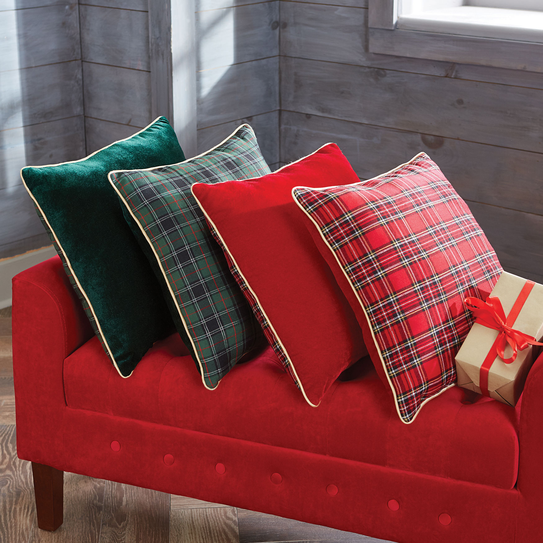 Plaid Toss Pillow, GREEN MULTI