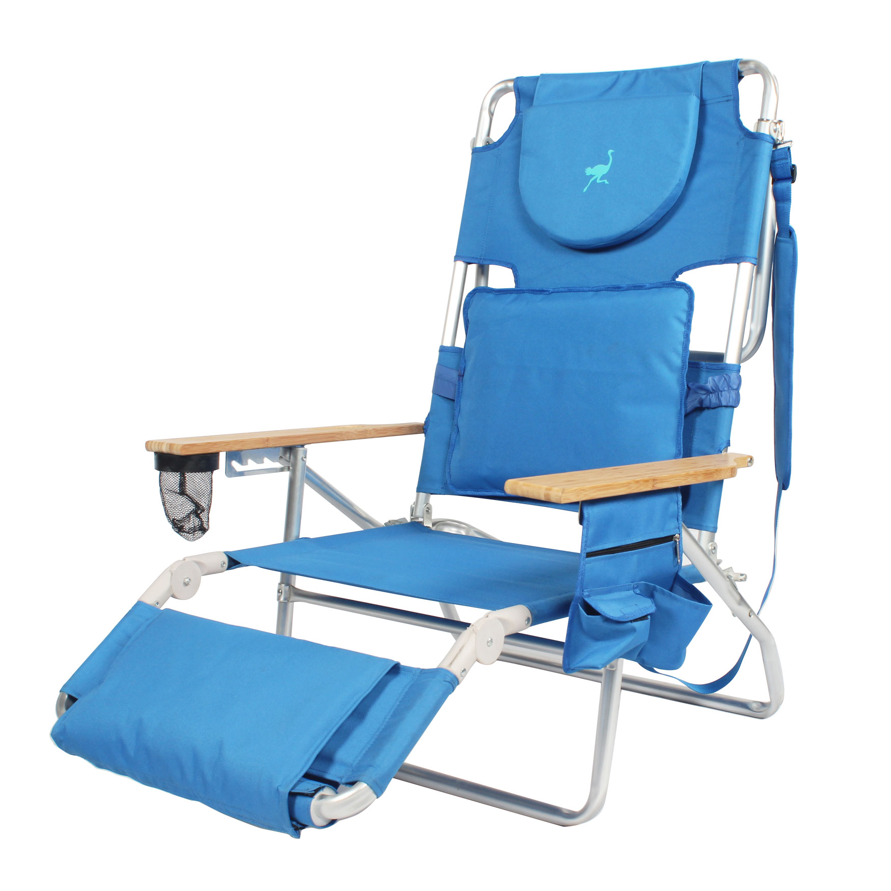 Deluxe Ostrich 3-In-1 Beach Chair, BLUE