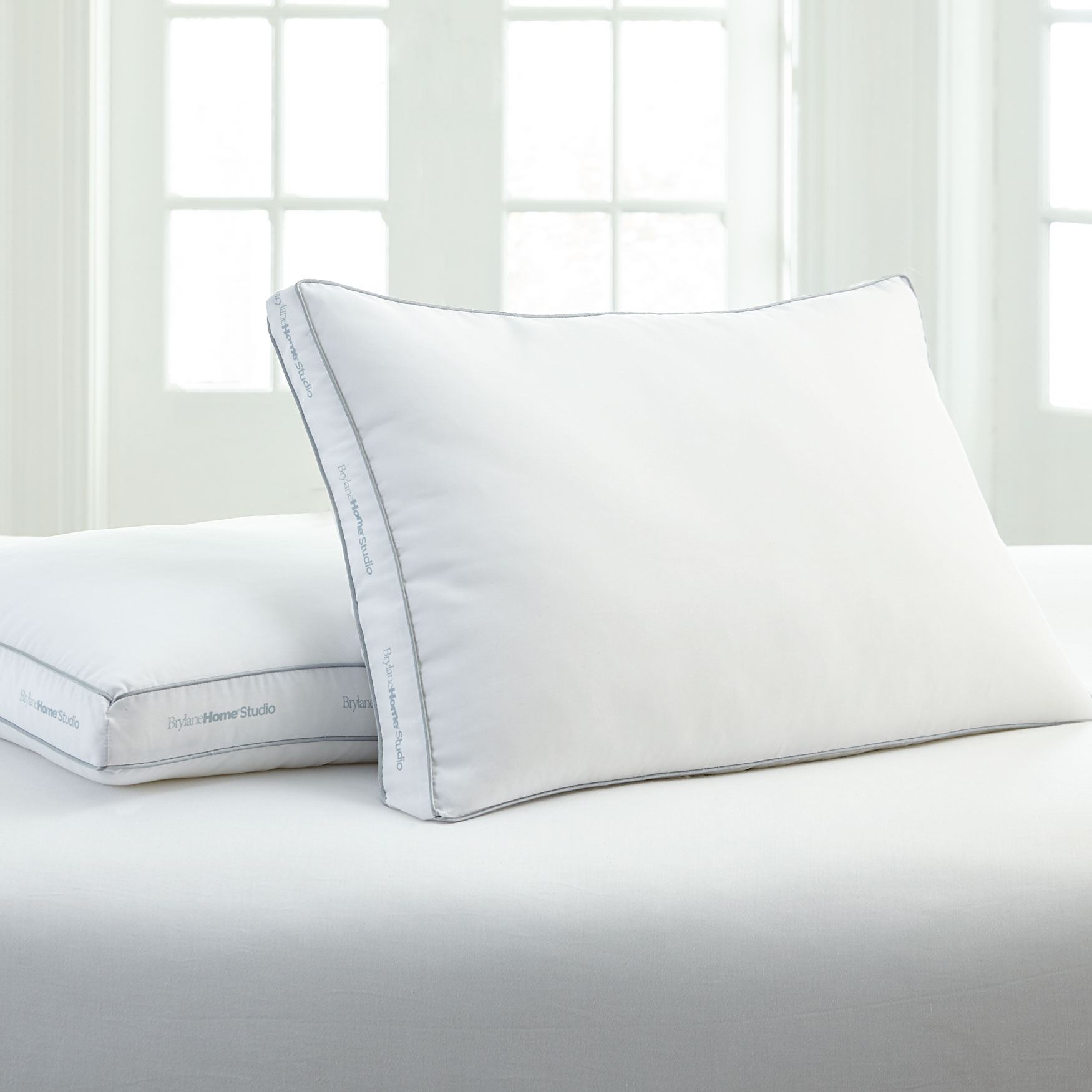 BrylaneHome Paragon Down Alternative Soft/Stomach 2-Pillow Pack,