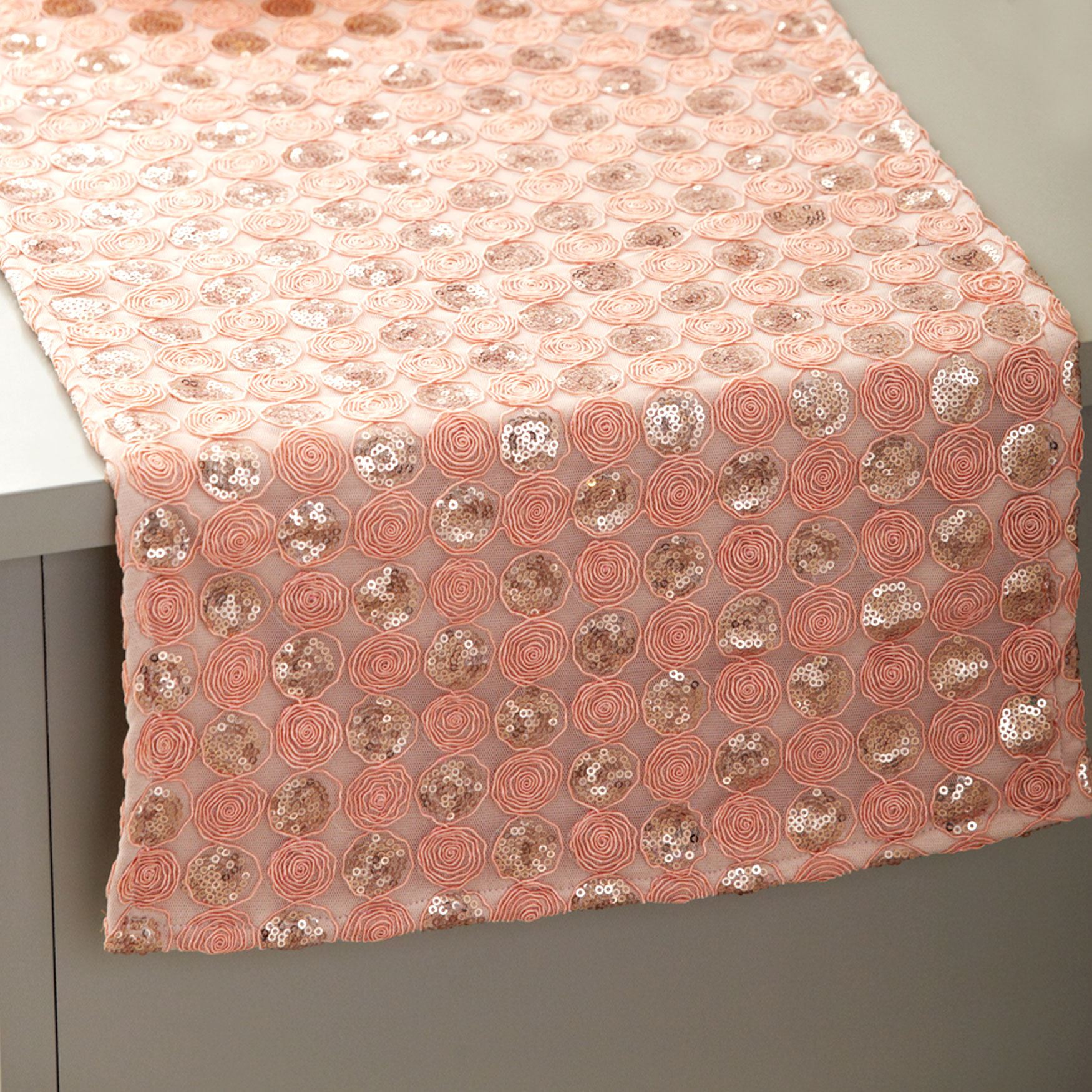 "72"" Pink Sequined Table Runner, PINK"