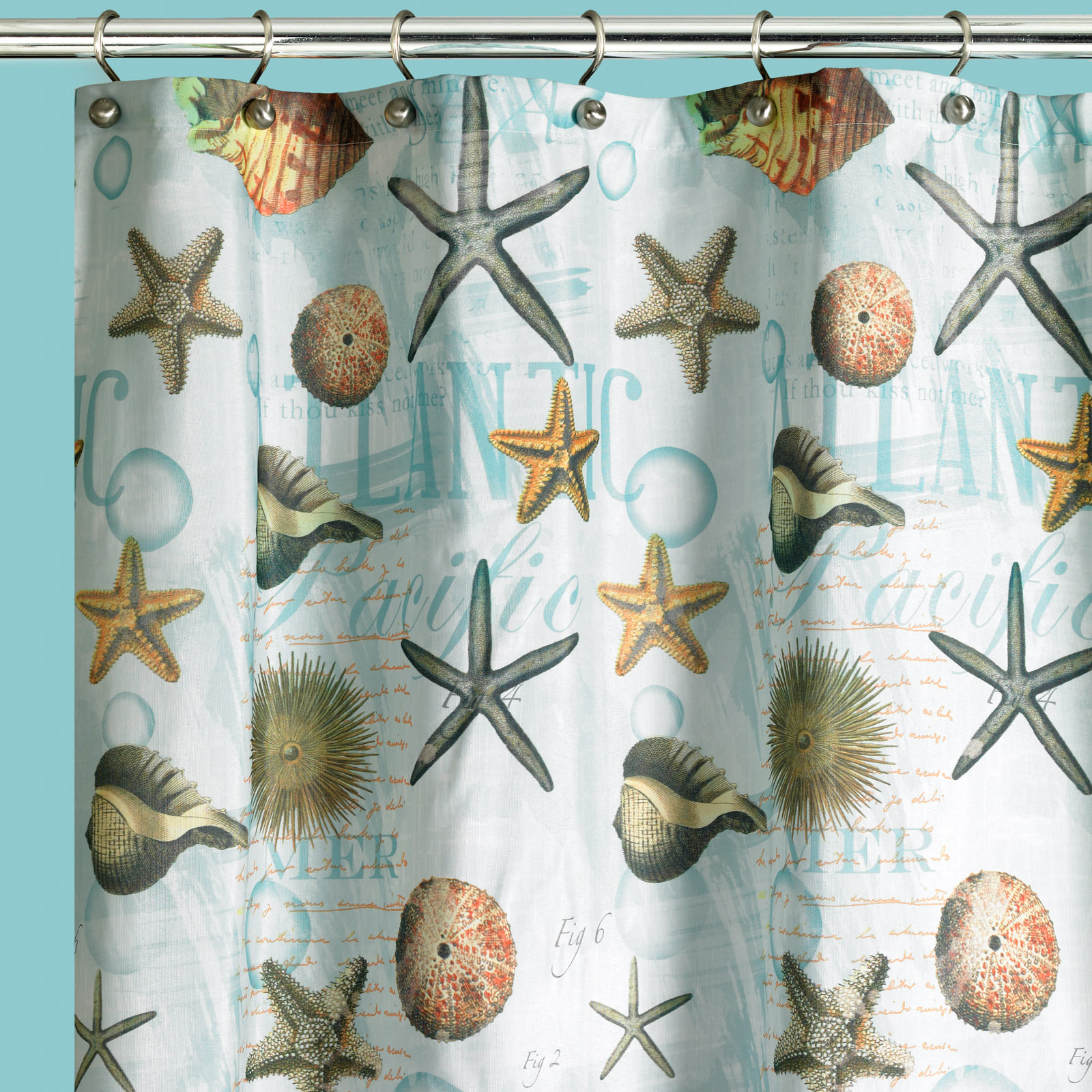 Atlantic  Shower Curtain, MULTI