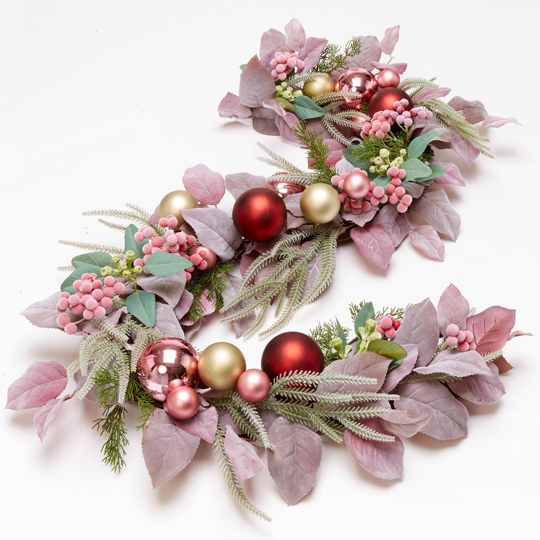 Blush Christmas Garland Pink Multi