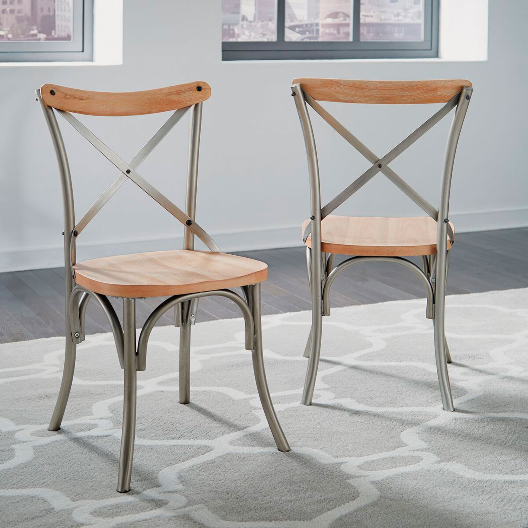 New Orleans Dining Chair, Set of 2, WHITE WASHED