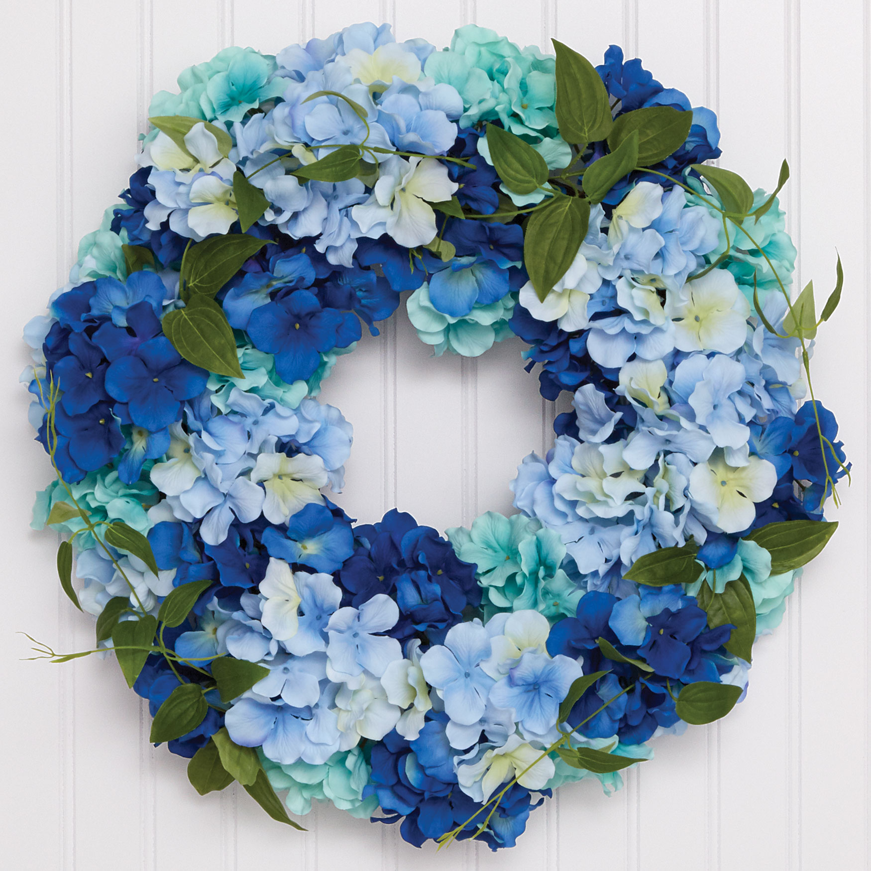 Blue Hydrangea Wreath, BLUE