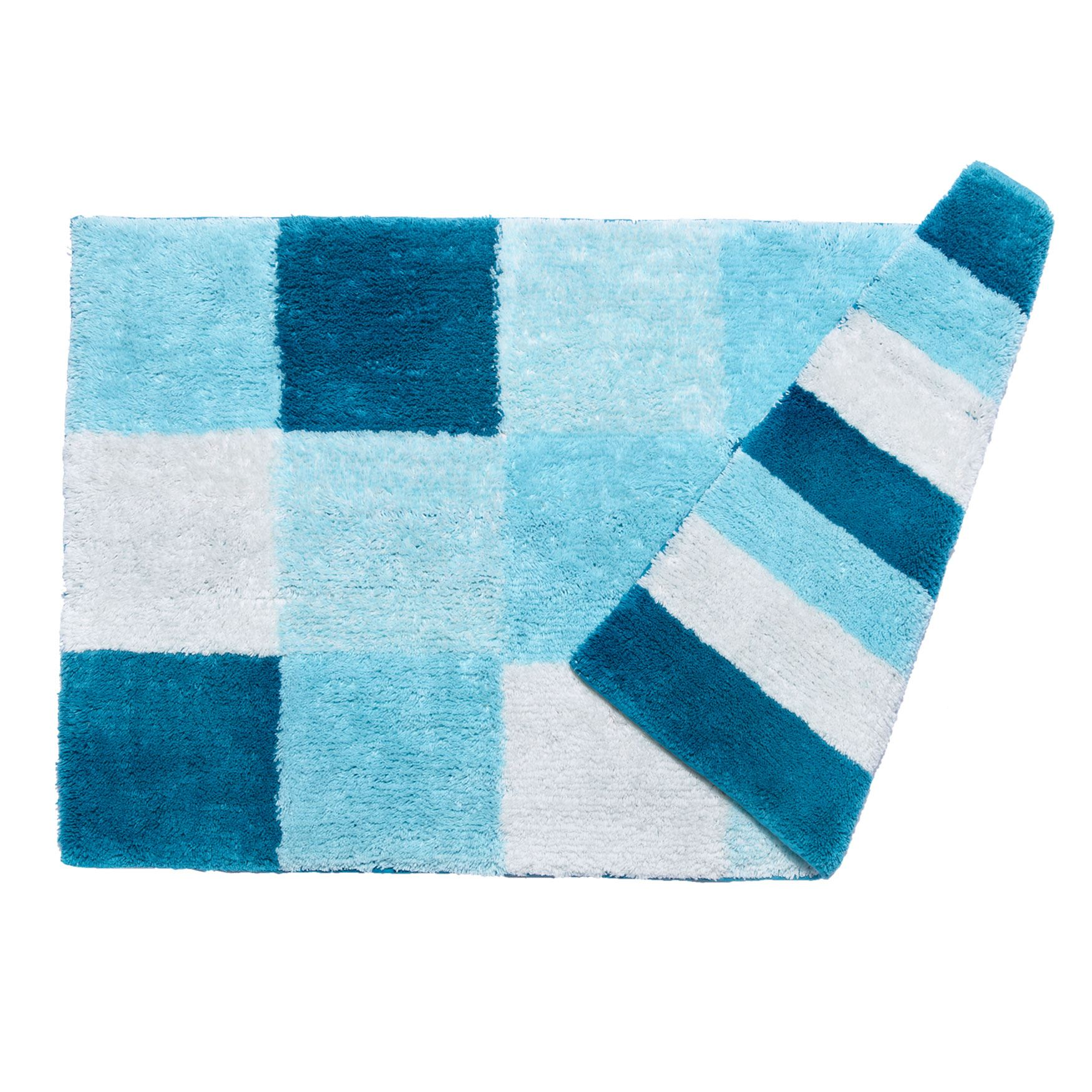 Small Colorblock Reversible Bath Rug | Bath Rugs & Bath ...