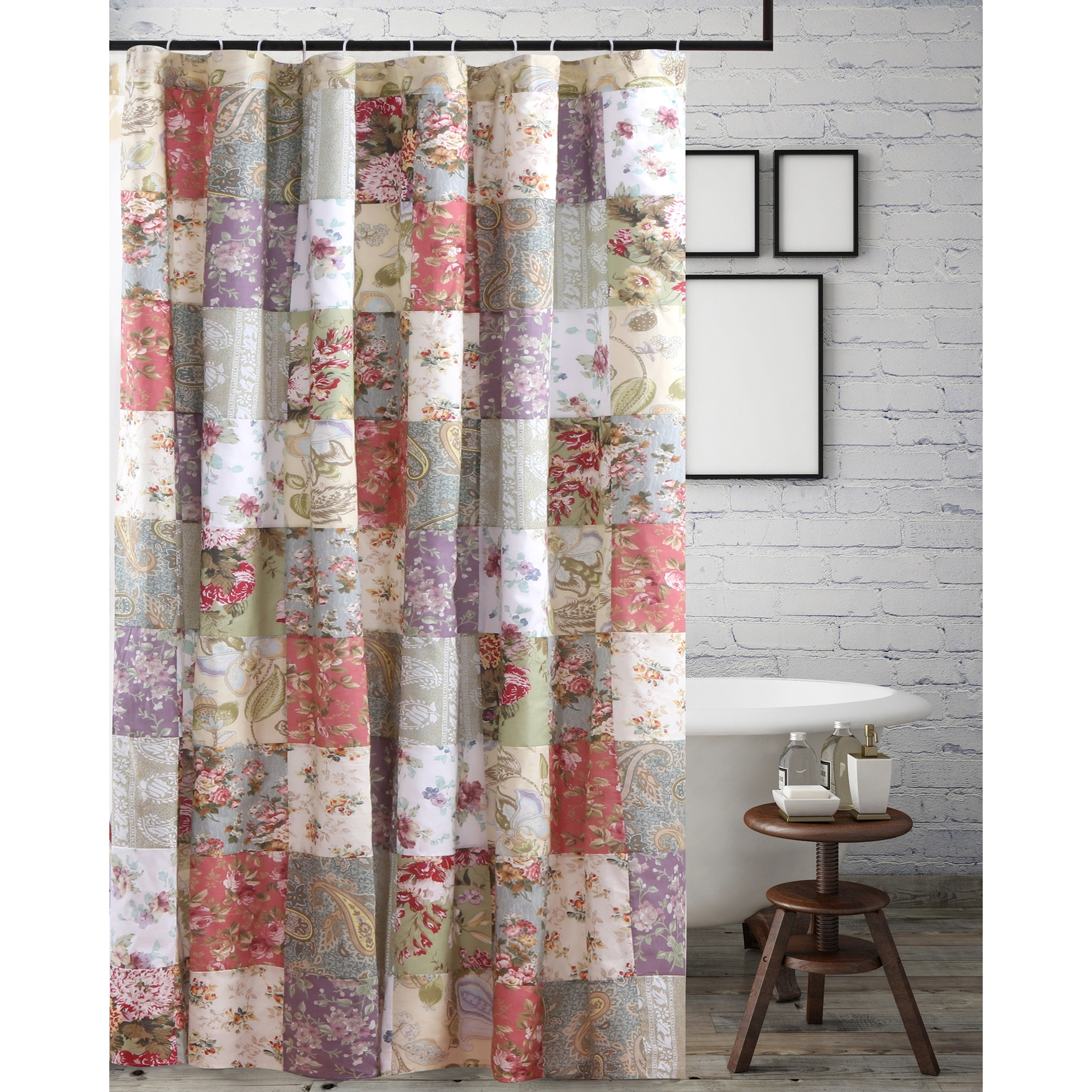 Blooming Prairie Shower Curtain by Greenland Home Fashions, MULTI