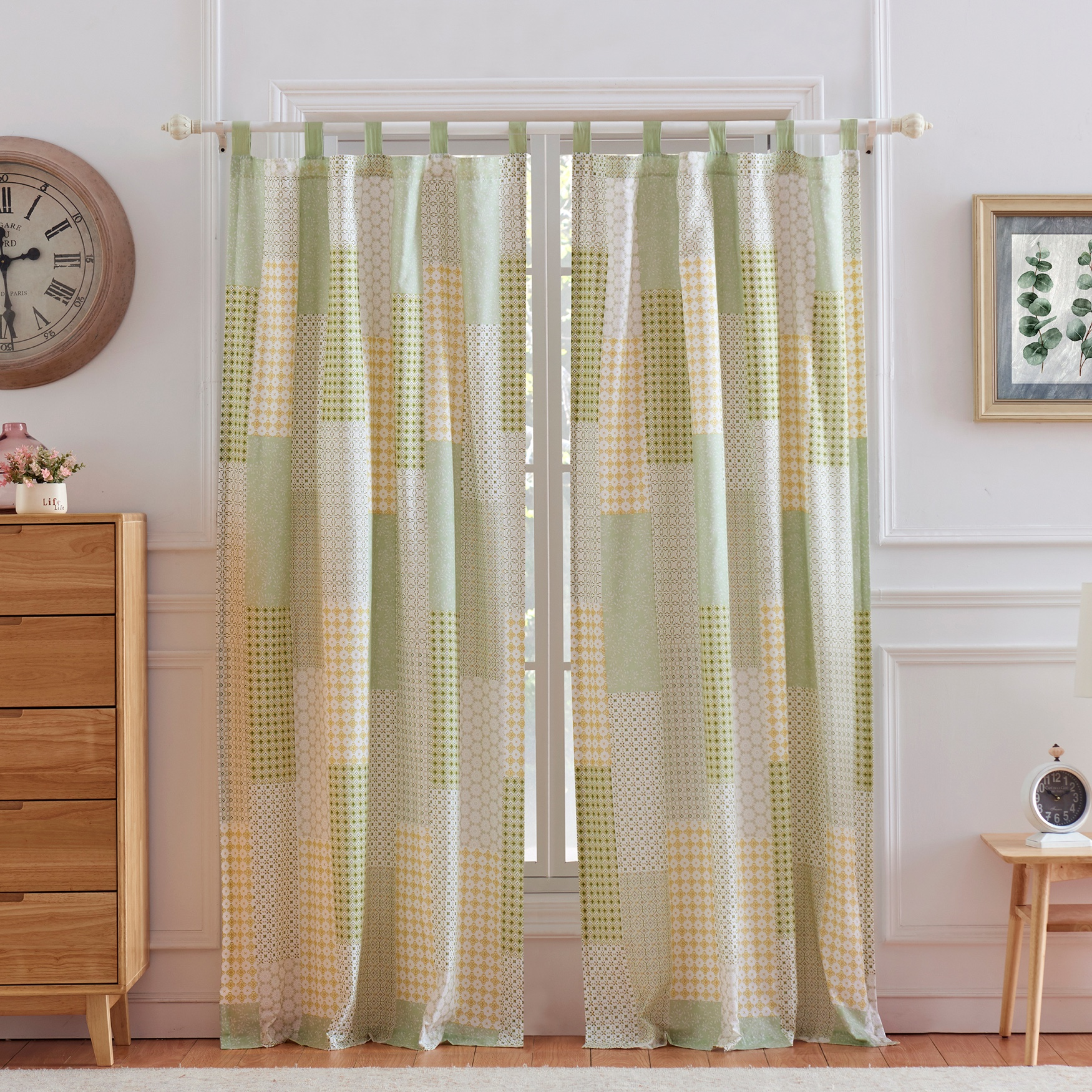 Juniper Sage Curtain Panel Pair , SAGE