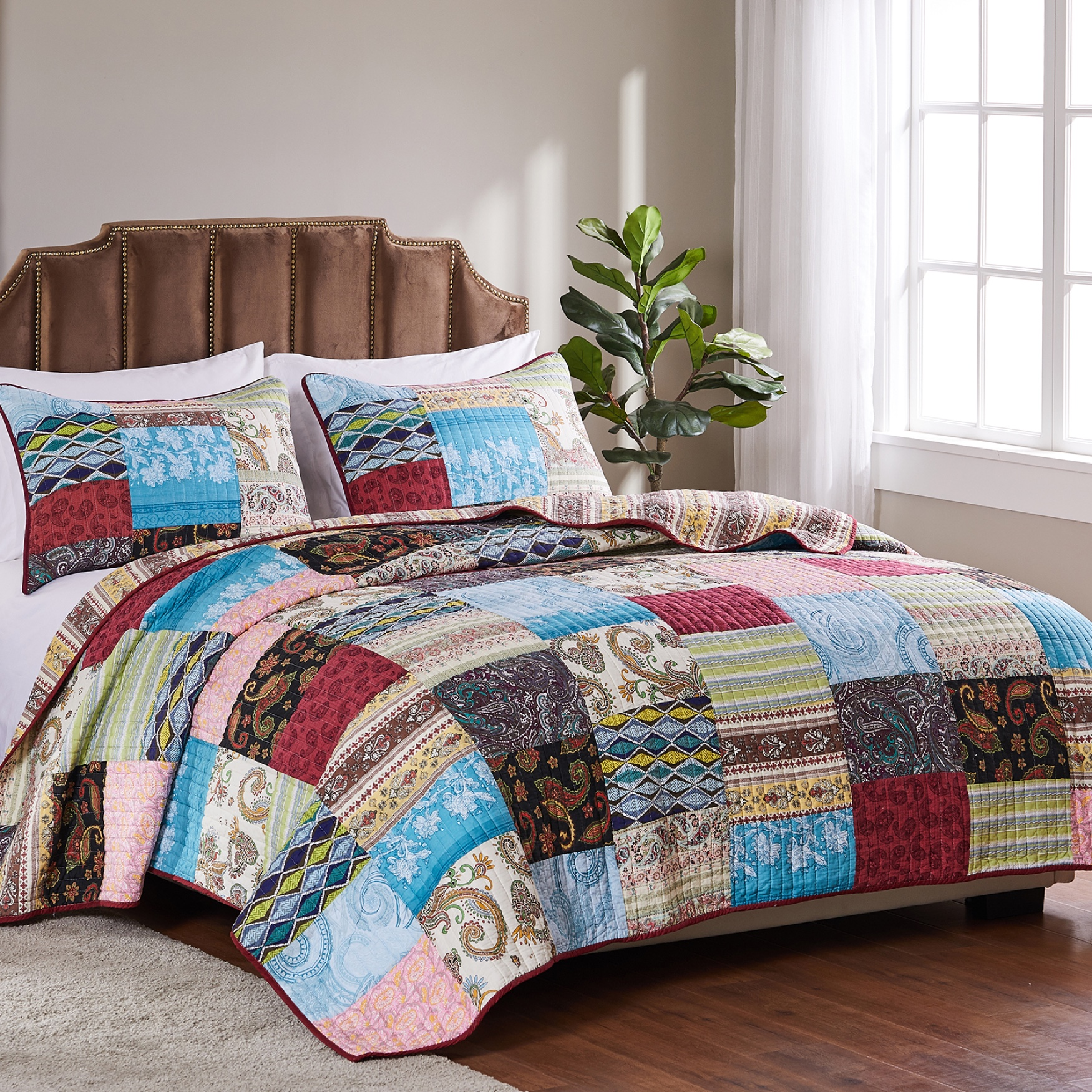 Bohemian Dream Quilt Set by Greenland Home Fashions,