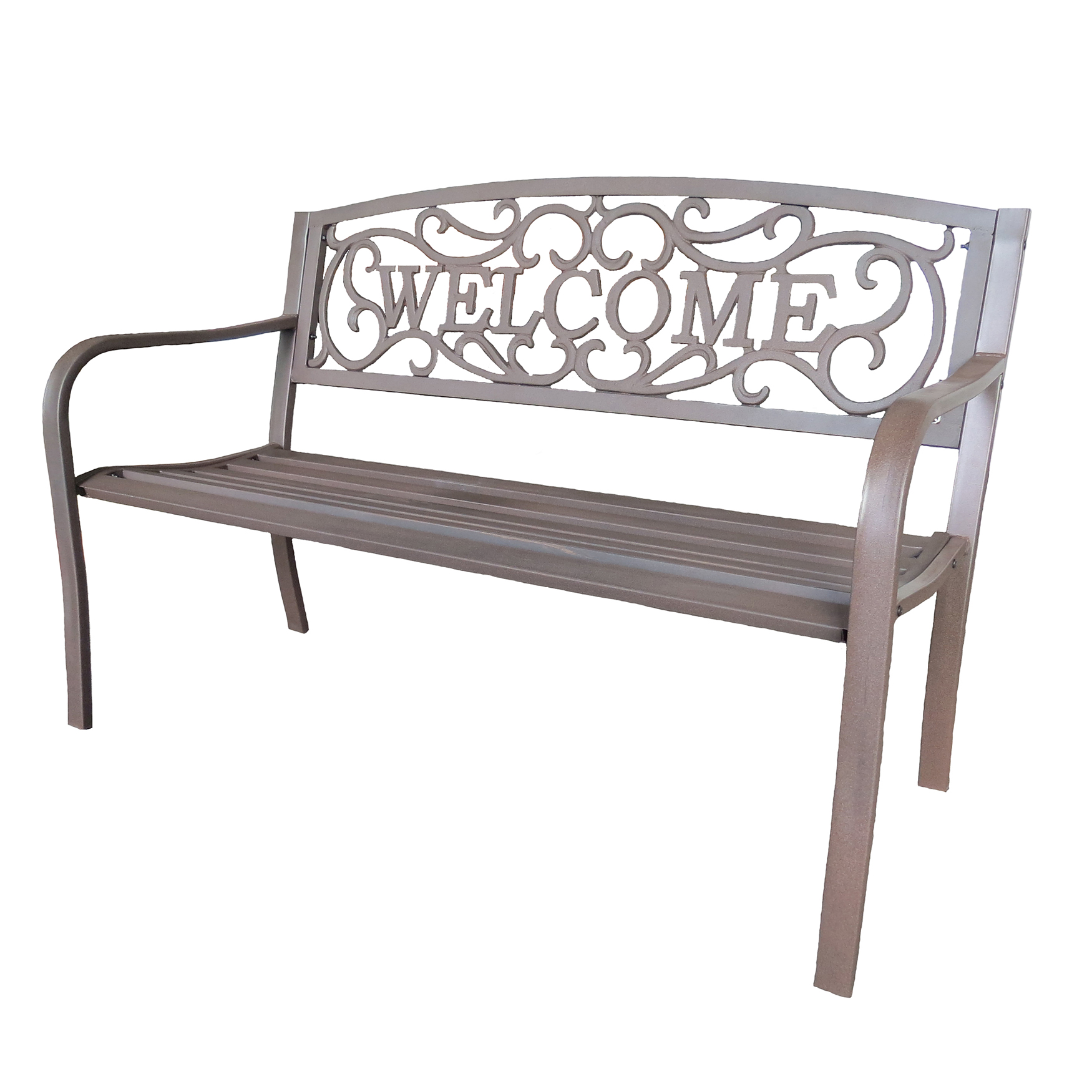 Bronze Steel Welcome Bench, BRONZE