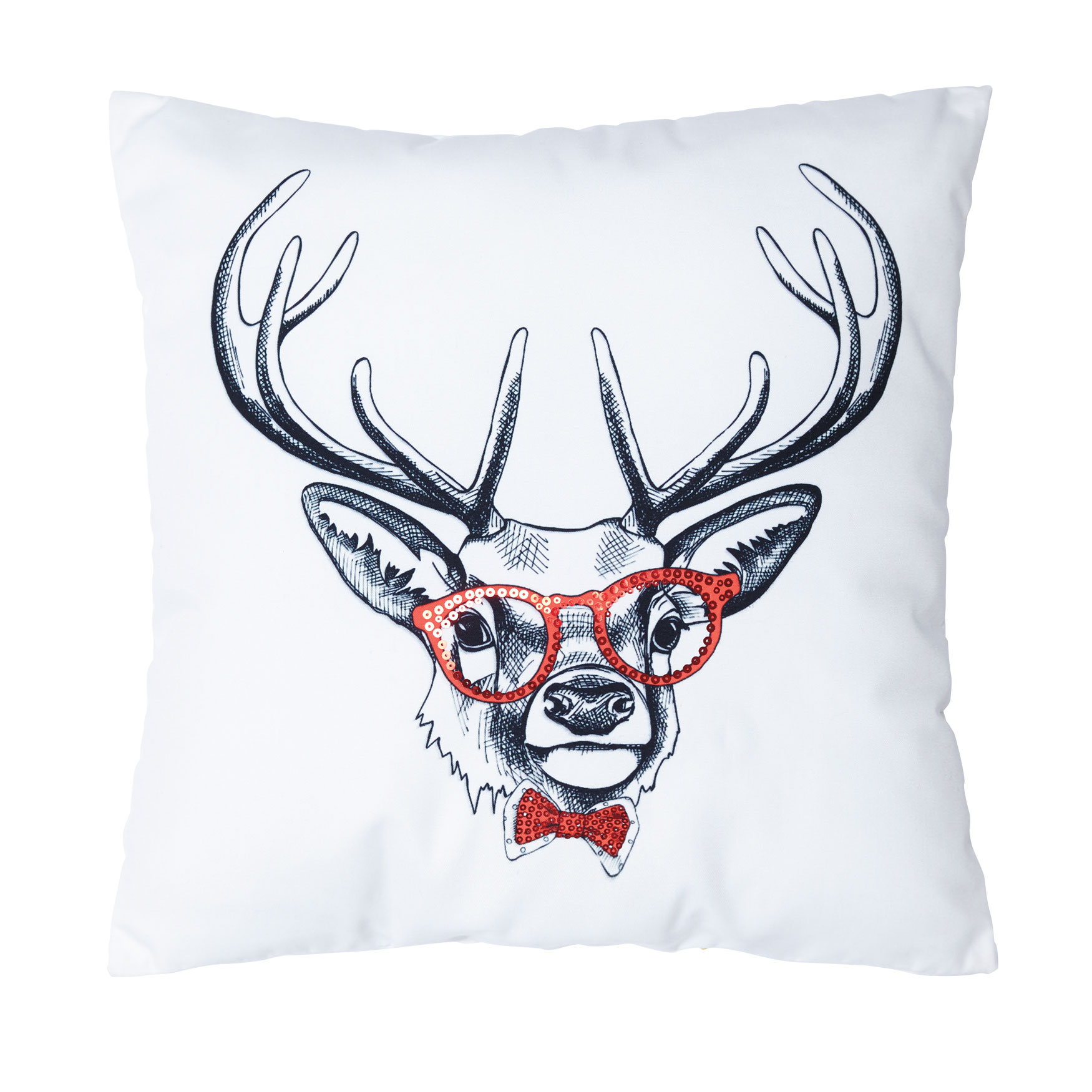 Hipster Reindeer Pillow, MULTI