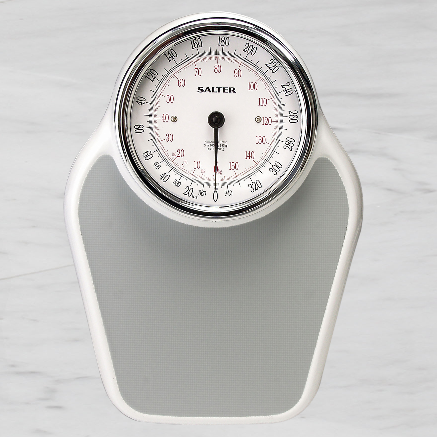 Doctor's High Capacity Bathroom Scale - Up to 400 Pounds, WHITE