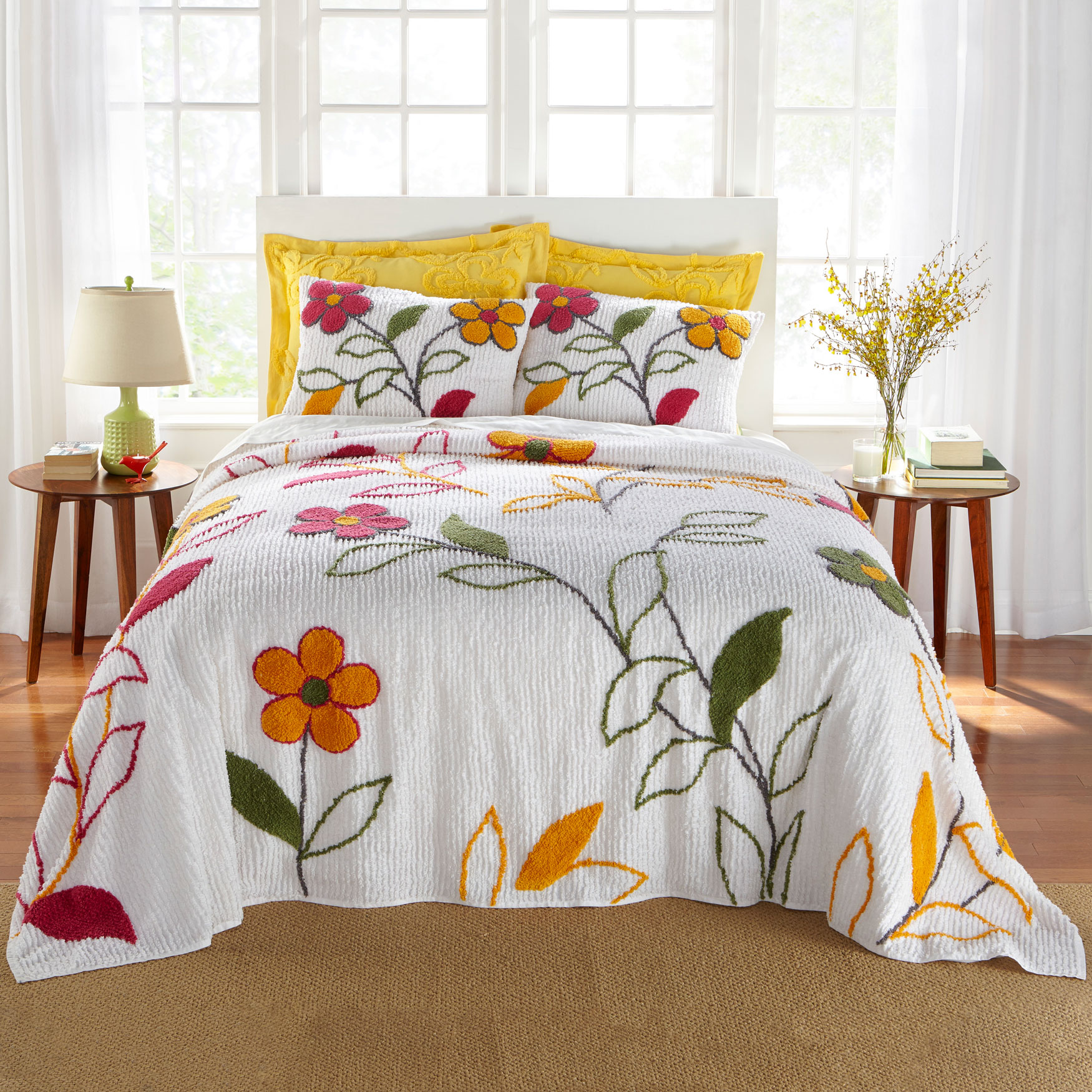 Julie Floral Chenille Bedspread Collection,