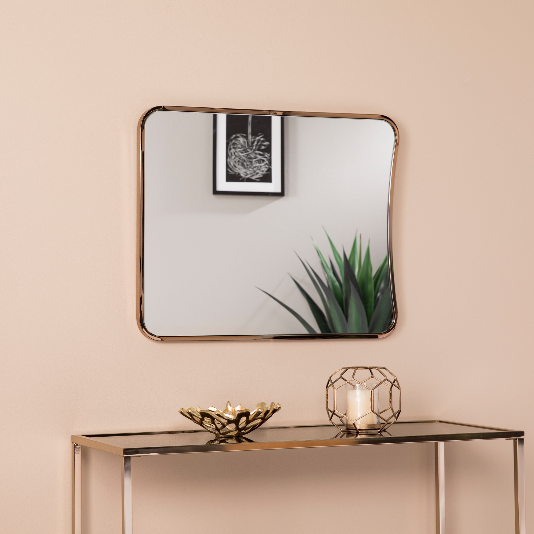 Alyce Large Decorative Mirror, CHAMPAGNE