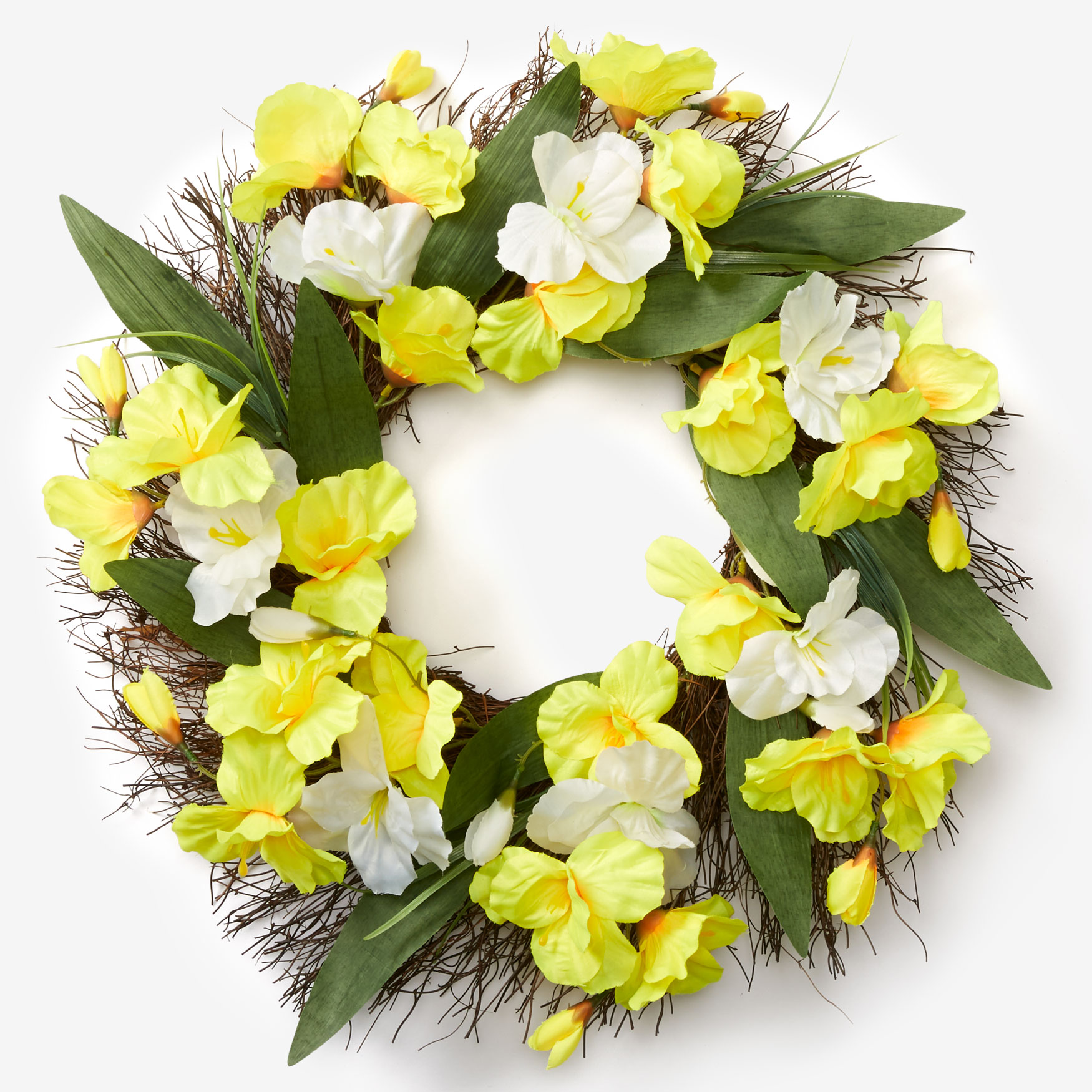 "21½"" Belle Wreath, YELLOW"