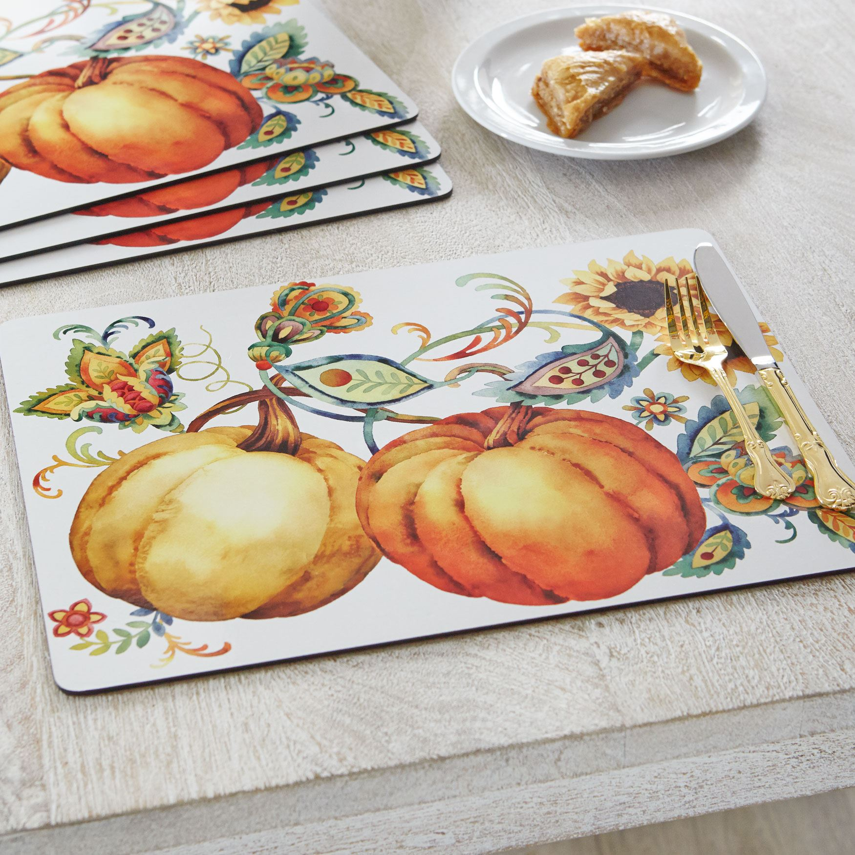 Autumn Bliss Placemats, Set of 4, MULTI