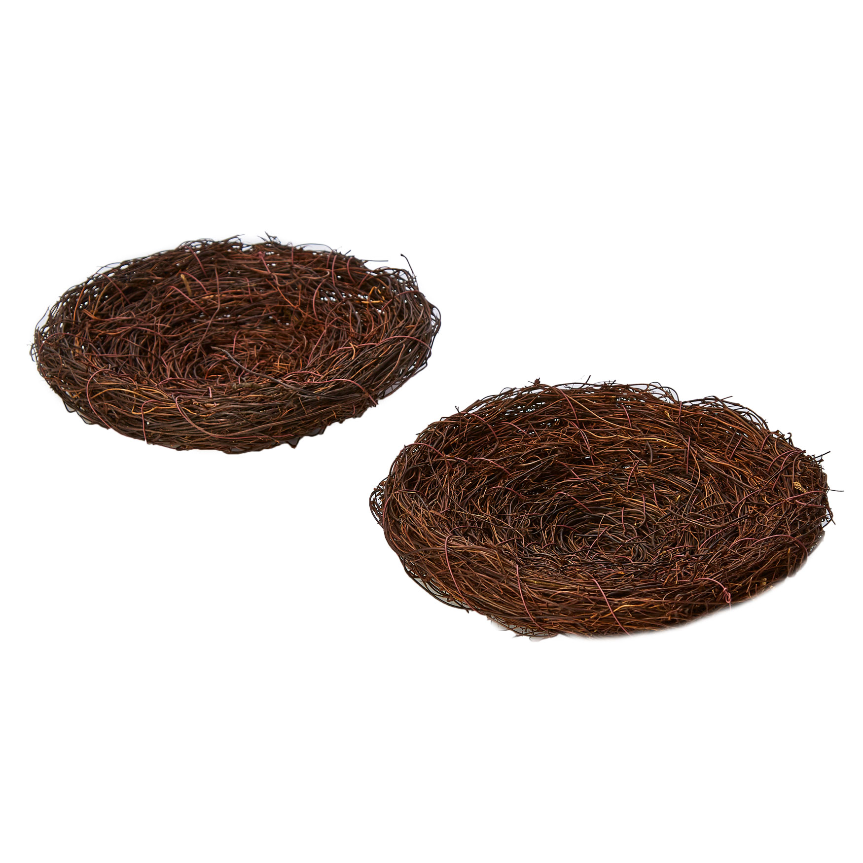 Decorative Nest, Set of 2, BROWN