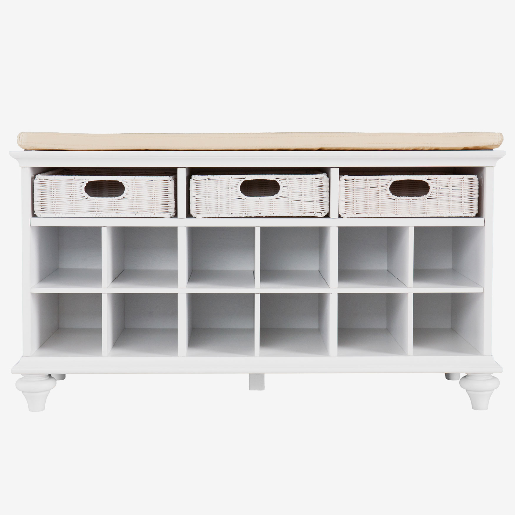 Chelmsford Shoe Bench, WHITE
