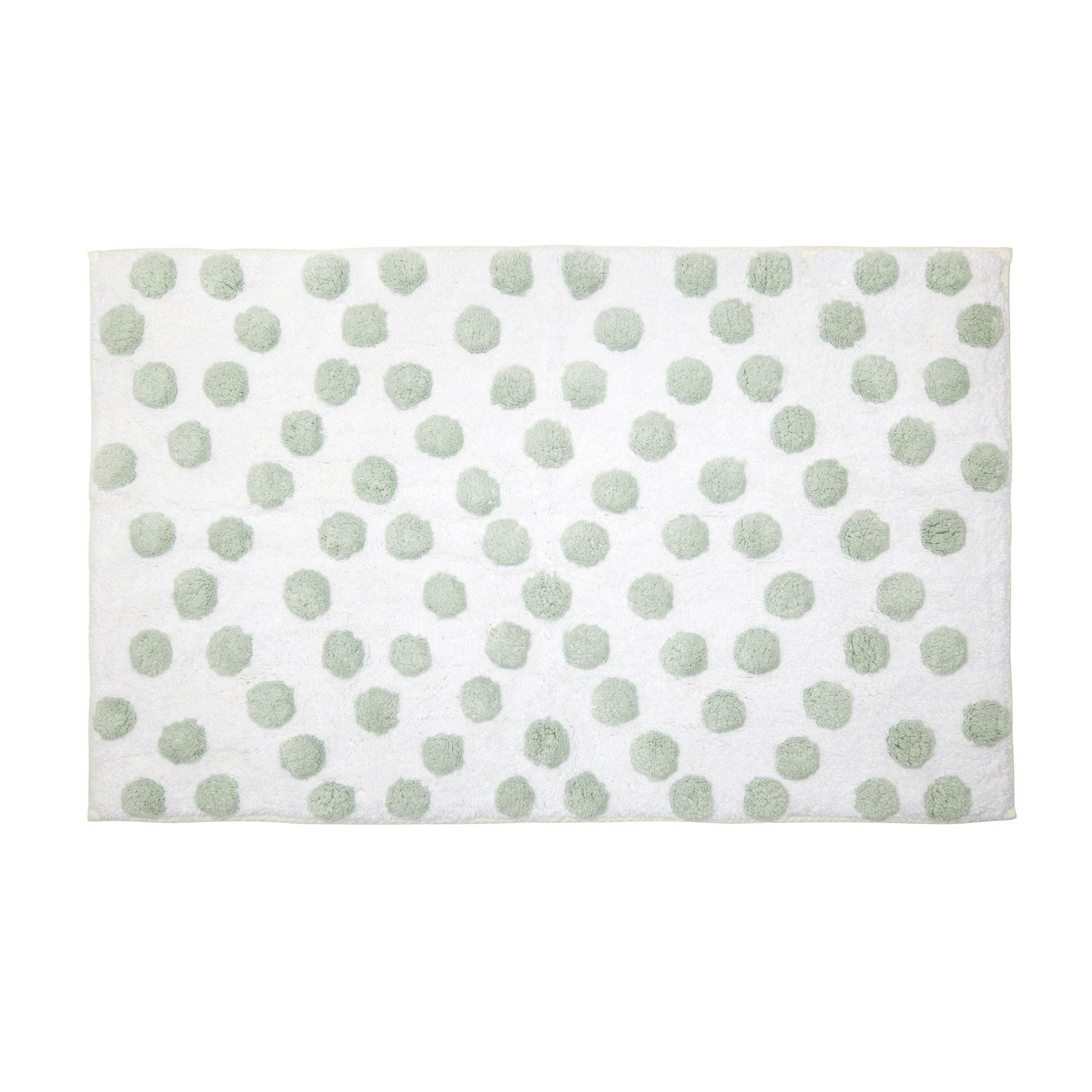 Dots Large Cotton Bath Rug , SURF SPRAY