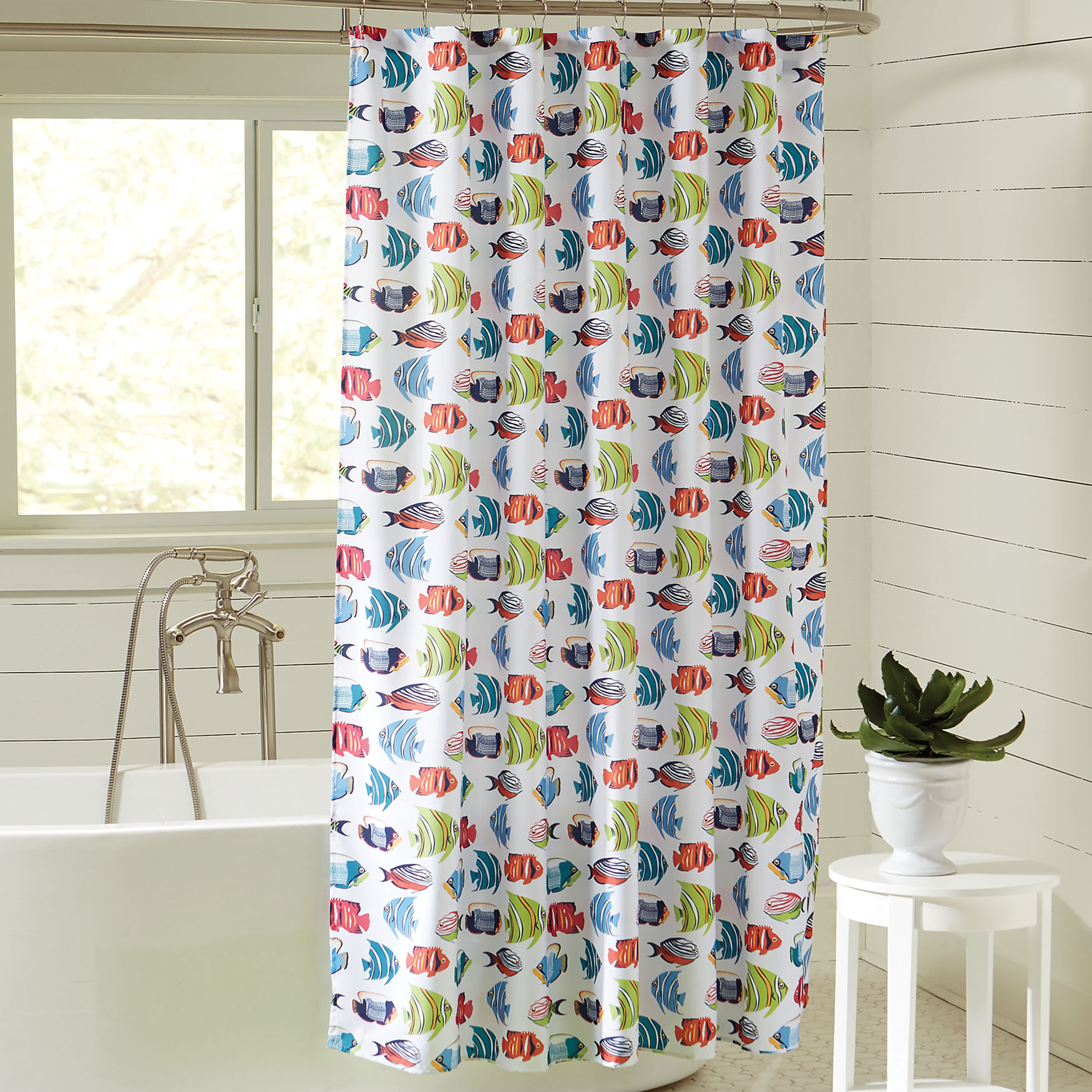Caribbean Joe 14-Pc. Shower Curtain Sets, RAINBOW FISH