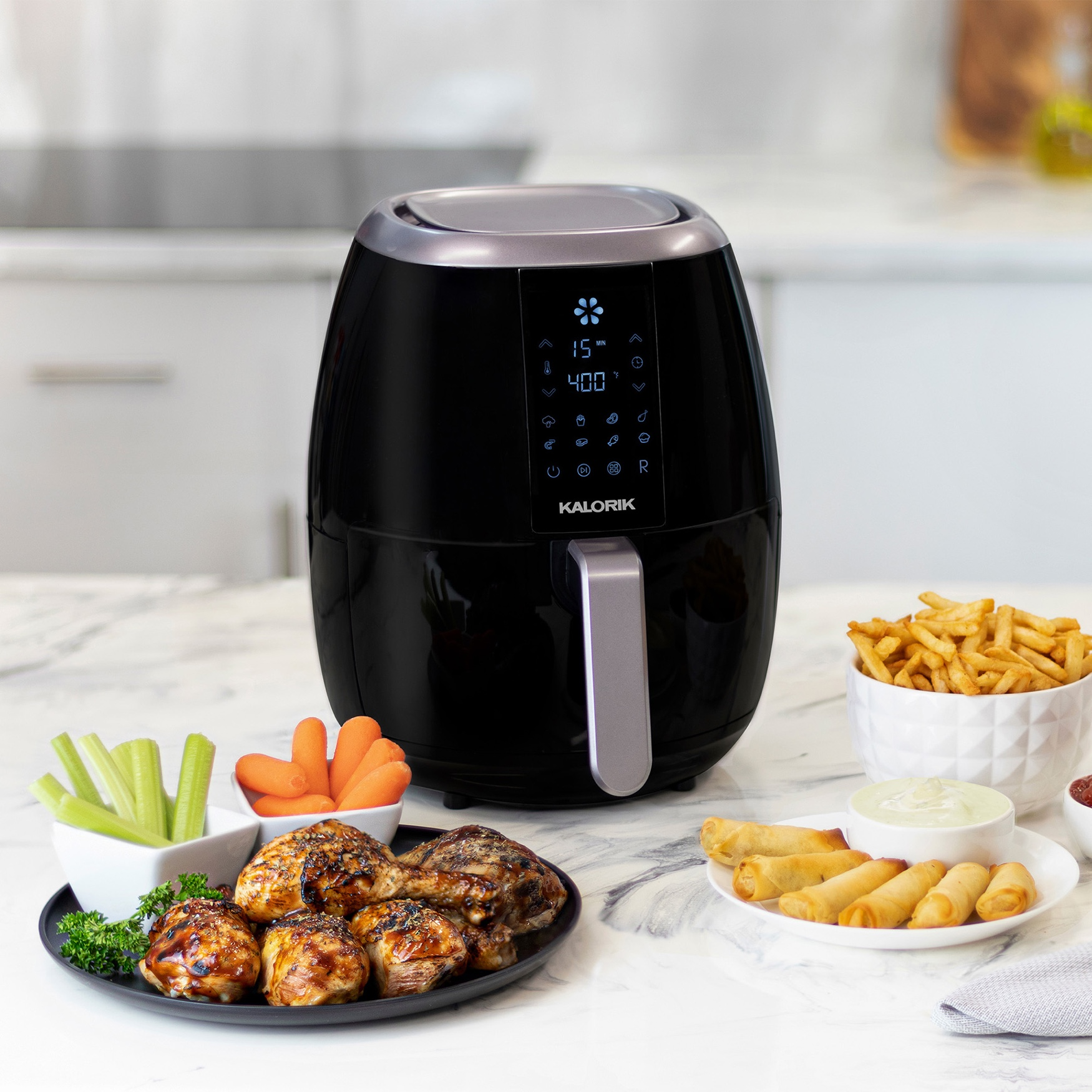 Kalorik 3.0 Quart Digital Airfryer by Kalorik, BLACK
