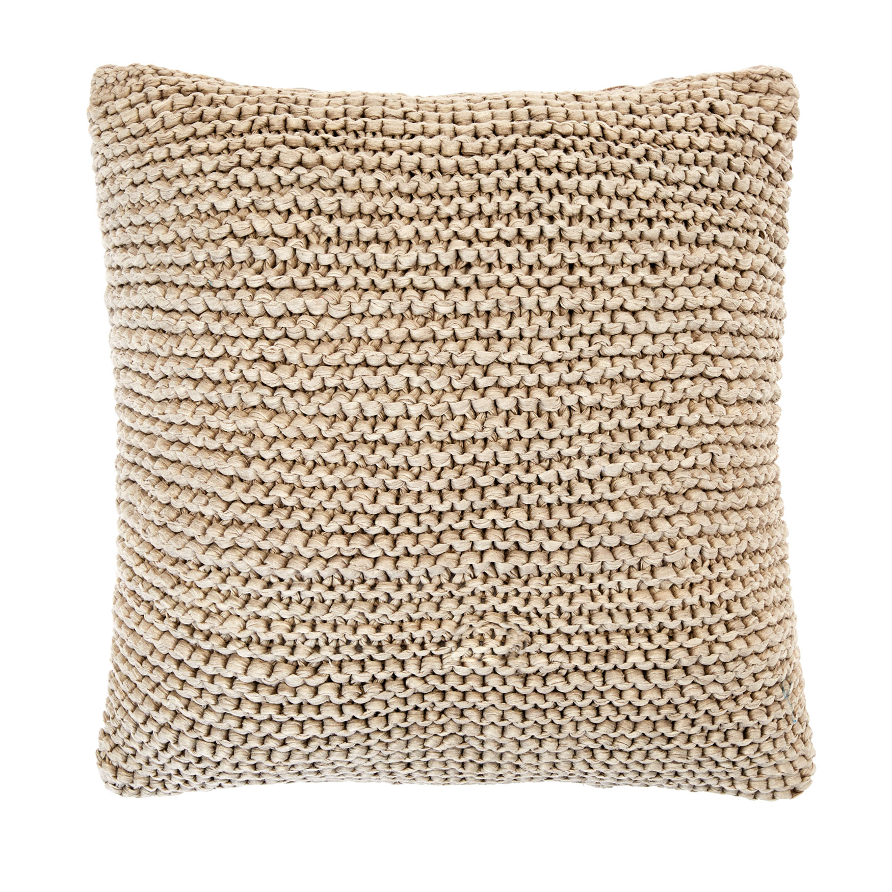 Cable Knit Decorative Pillow, GREY