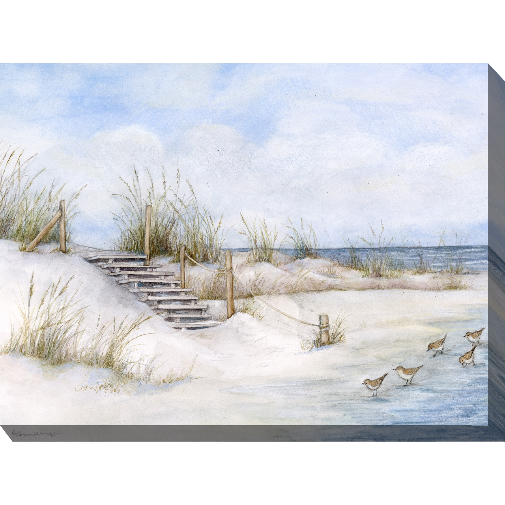 Soft Sands Outdoor Wall Art, MULTI