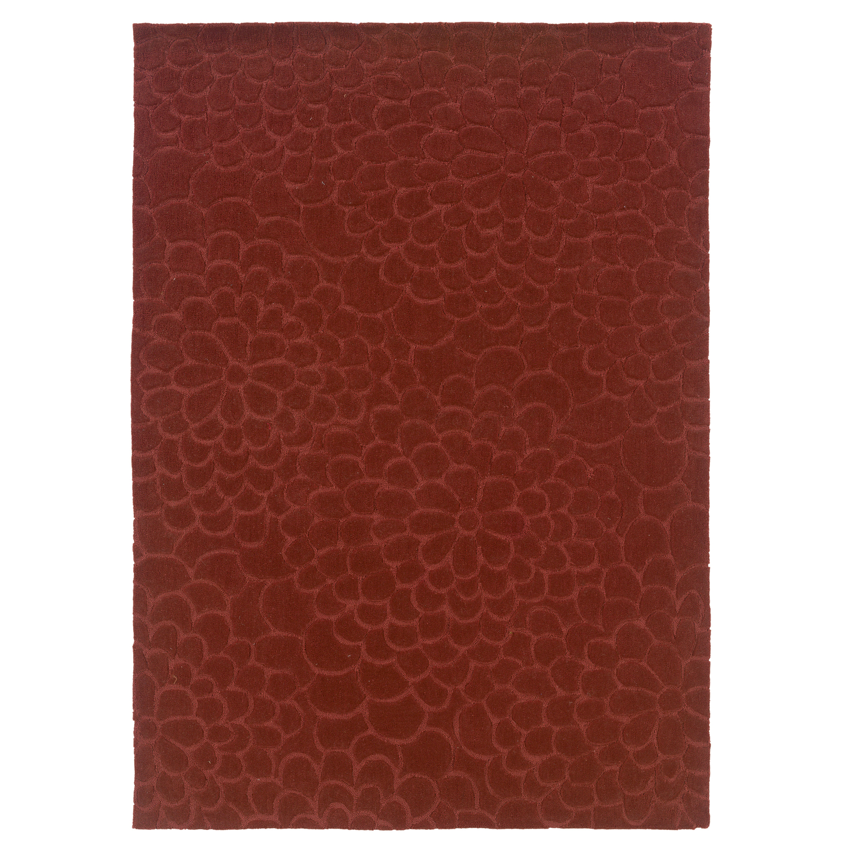 Trio 8'X10' Area Rug, RUST