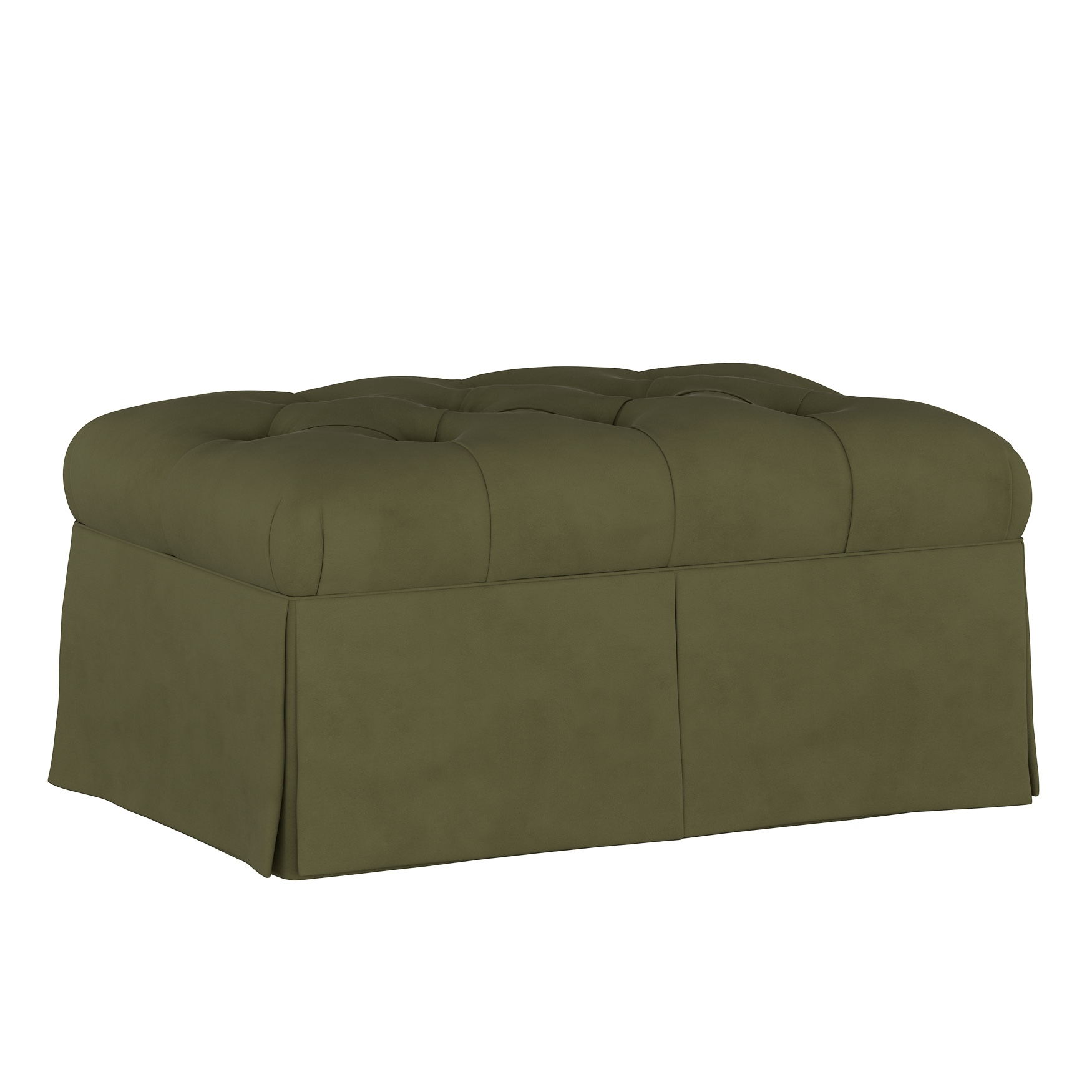 Velvet Skirted Storage Bench,