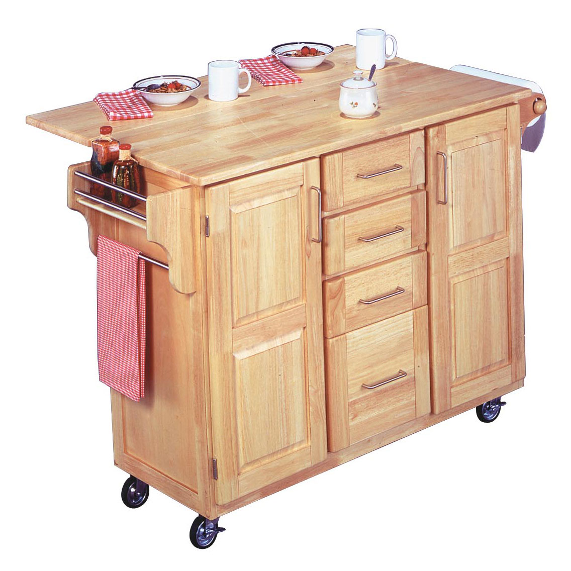 Kitchen Cart with Breakfast Bar, WOOD