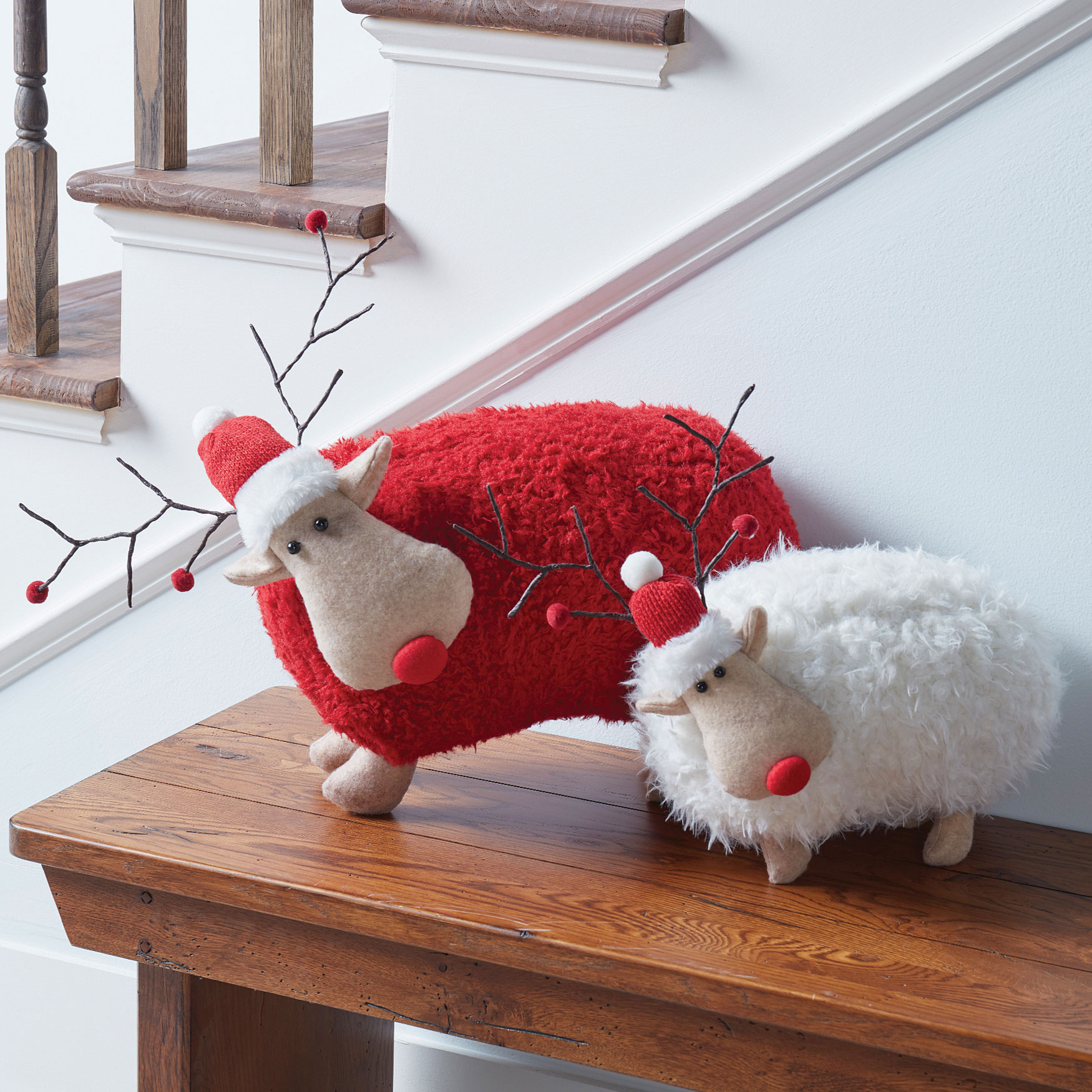 Plush Red Reindeer, RED