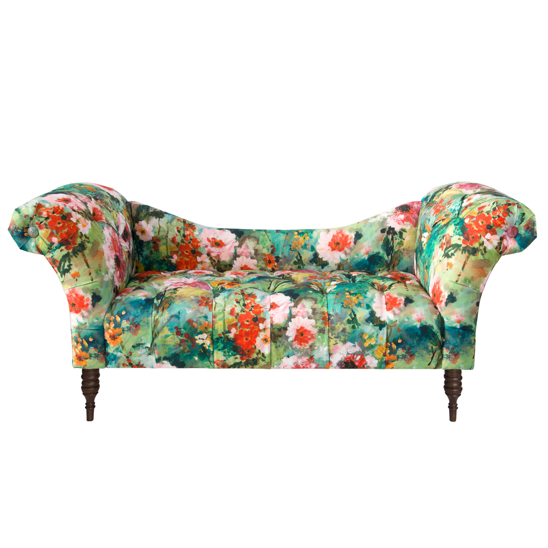 Tufted Chaise Lounge, JULIET MULTI