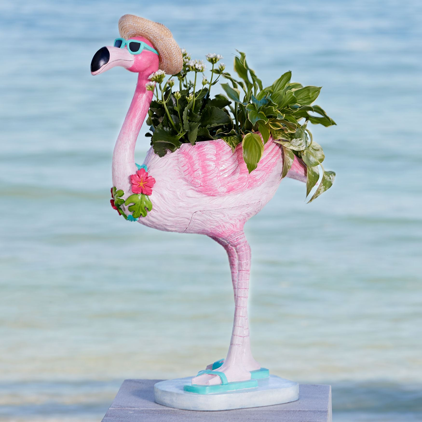Flamingo Planter, MULTI