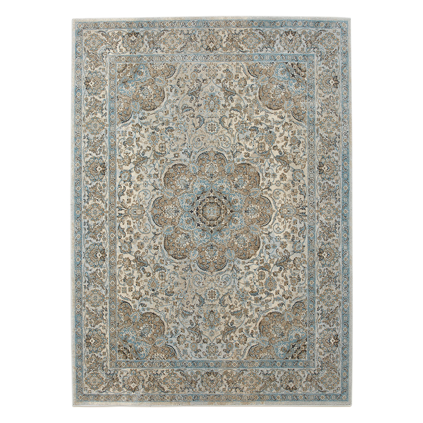Small Traditional Overdye Rug, BLUE