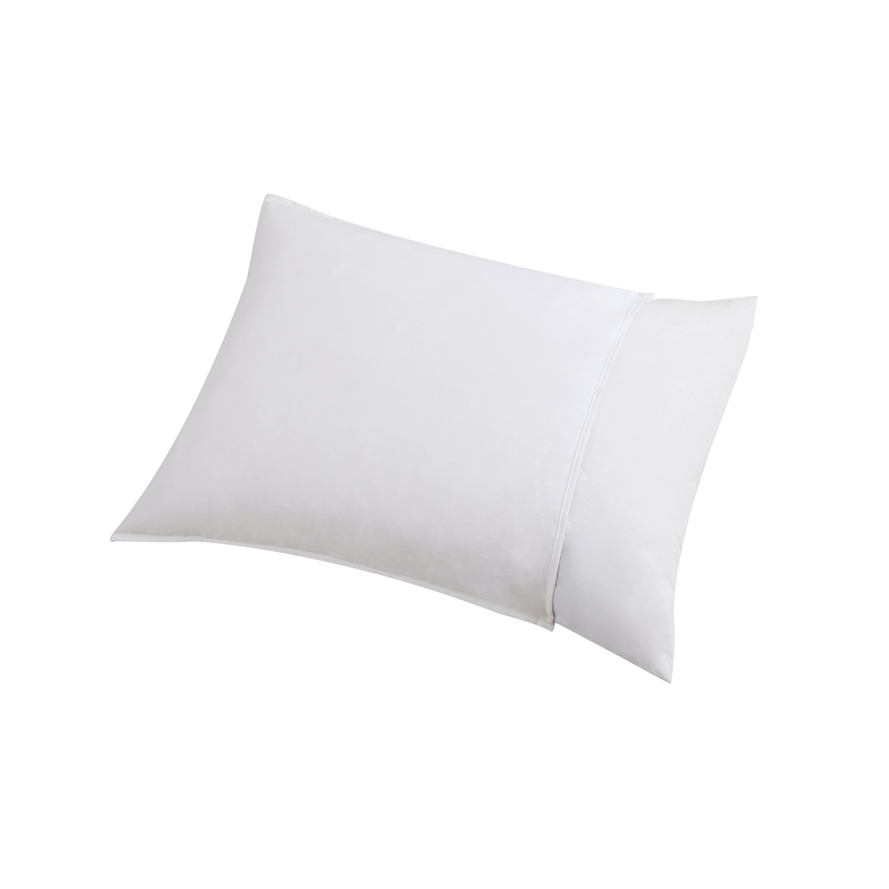 Dust Buster Allergy Relief Breathable Pillow Protector with Stain Release, WHITE