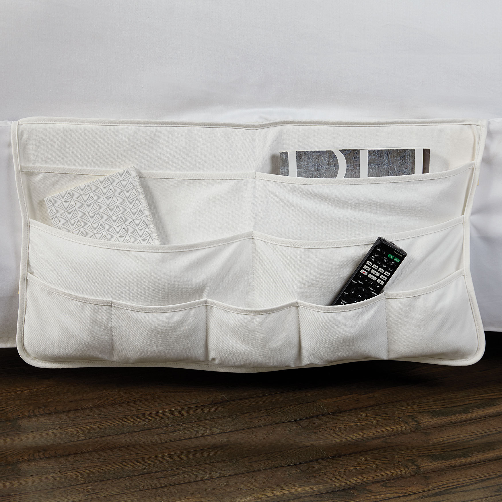 Oversized Side-of-Bed Soft Storage, WHITE