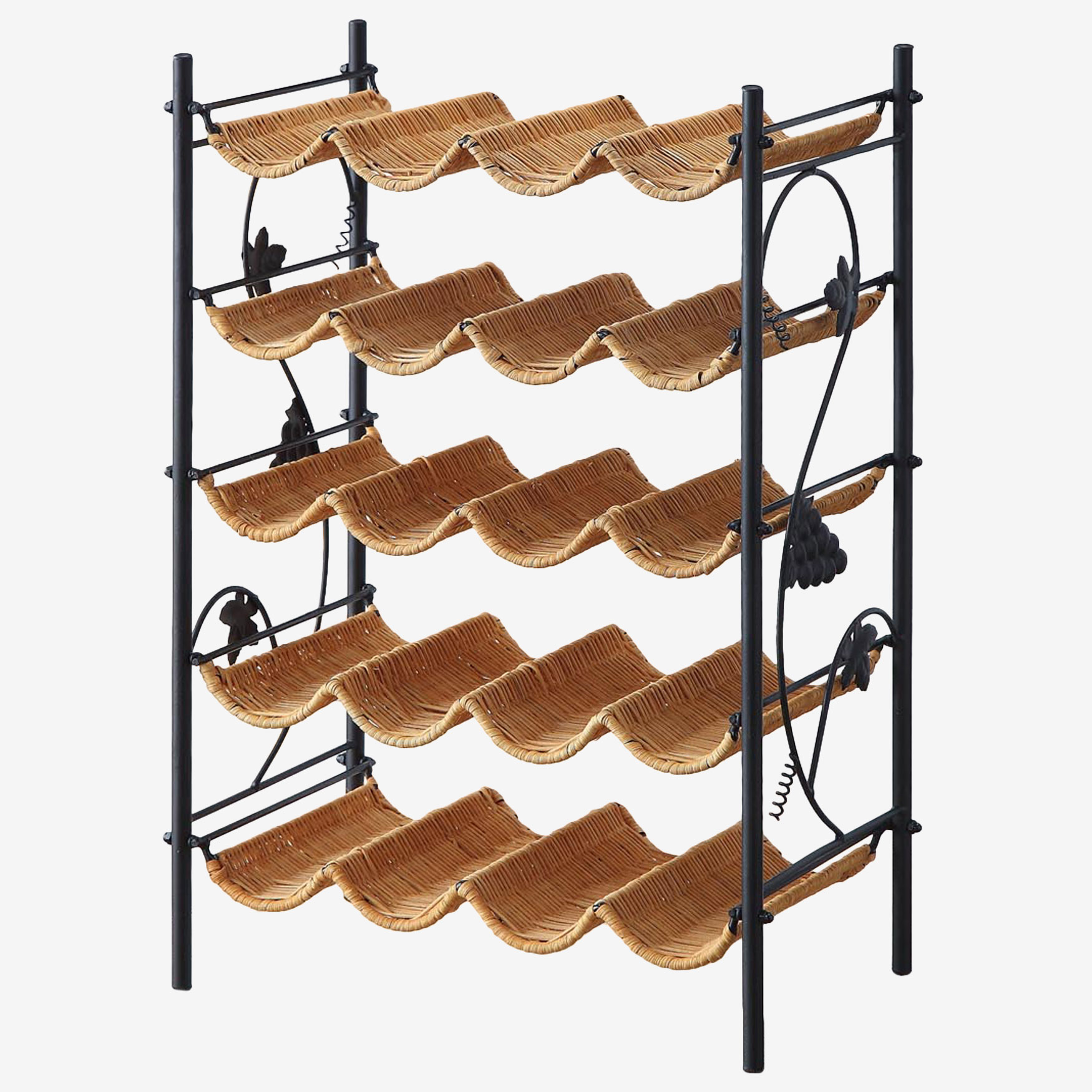 Wicker Wine Rack, HONEY
