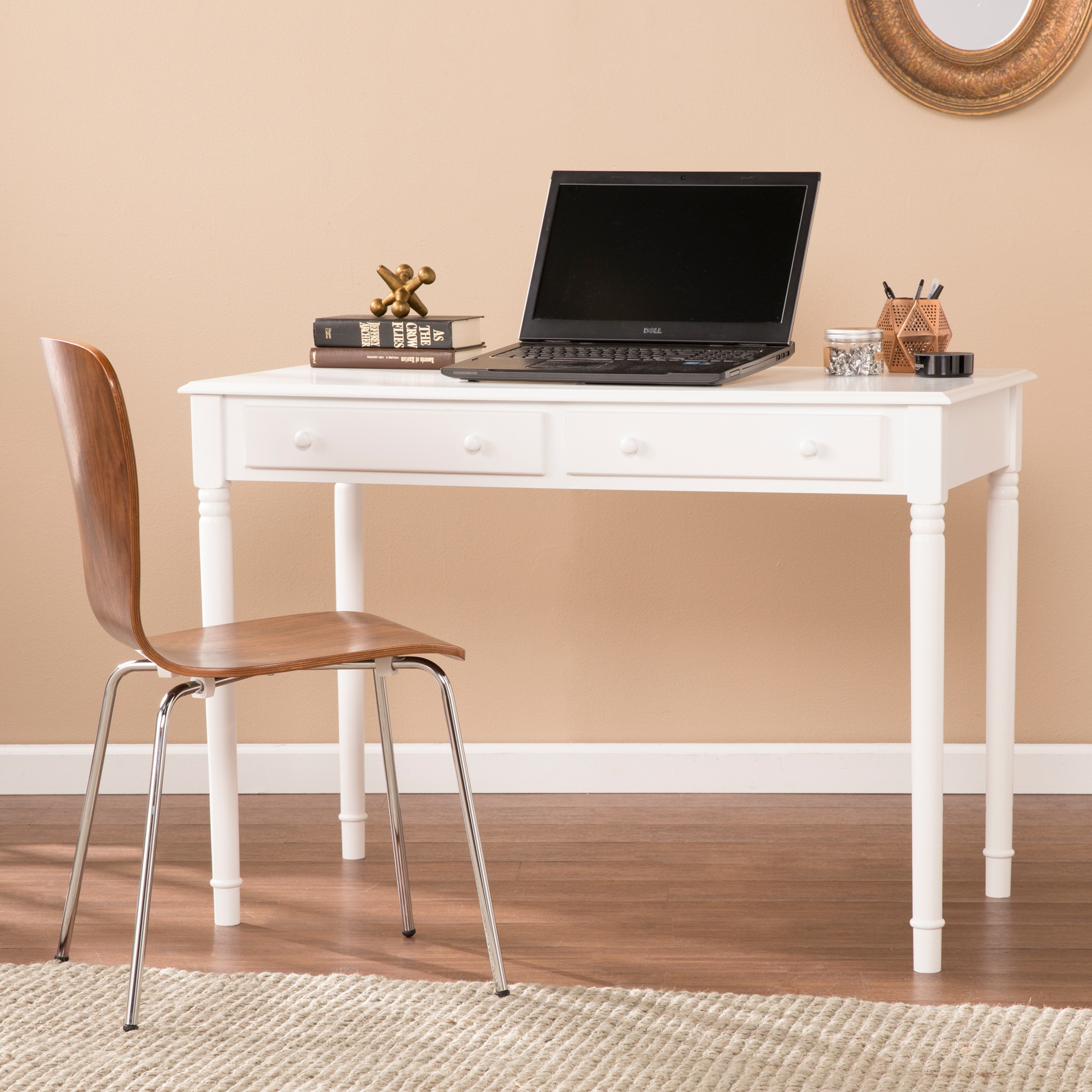 Writing 2-Drawer Desk, WHITE