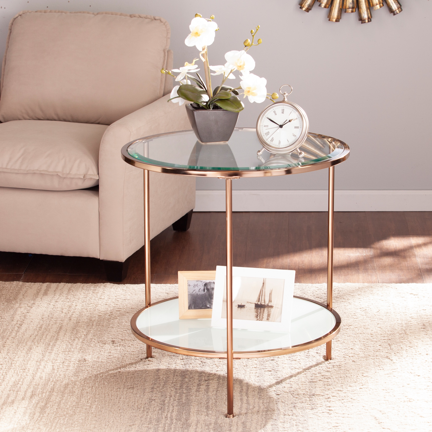 Risa End Table, GOLD