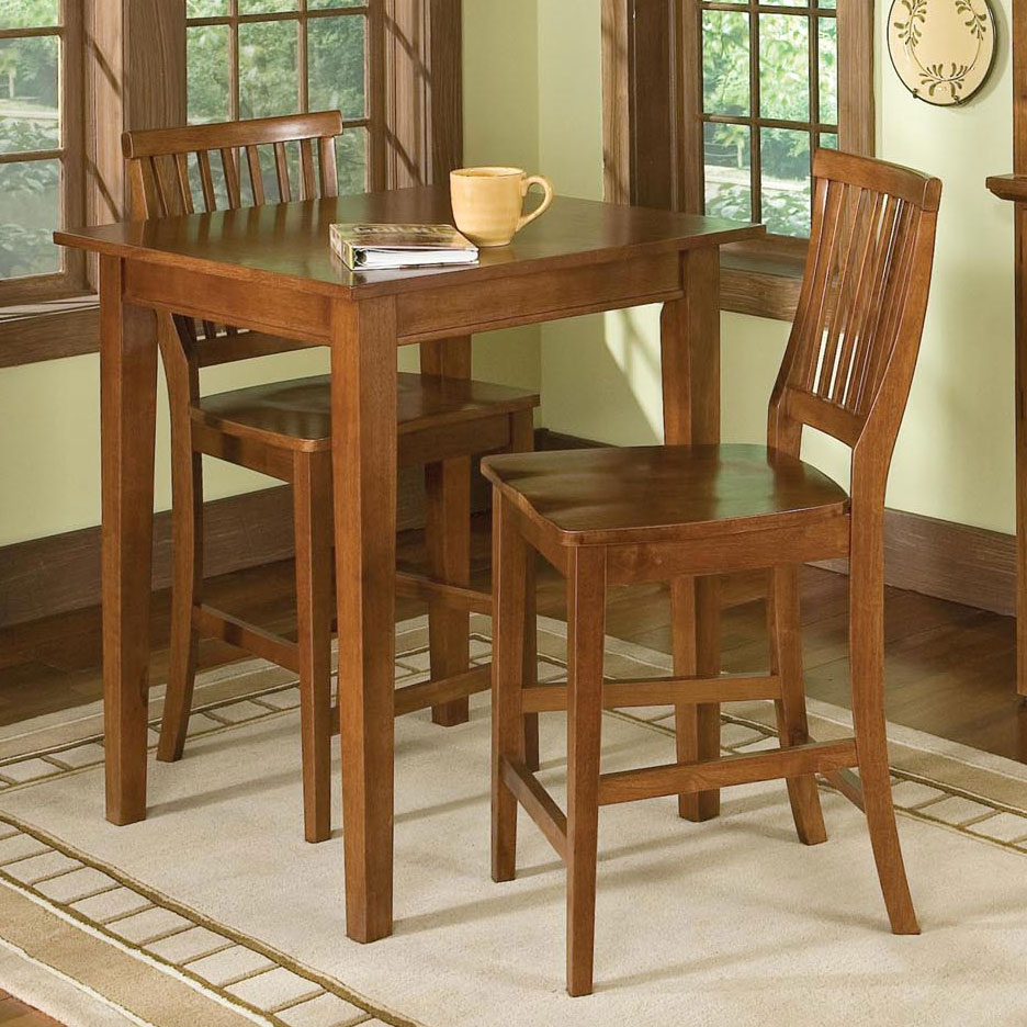 Arts & Crafts Bistro Table & Bar Stools,