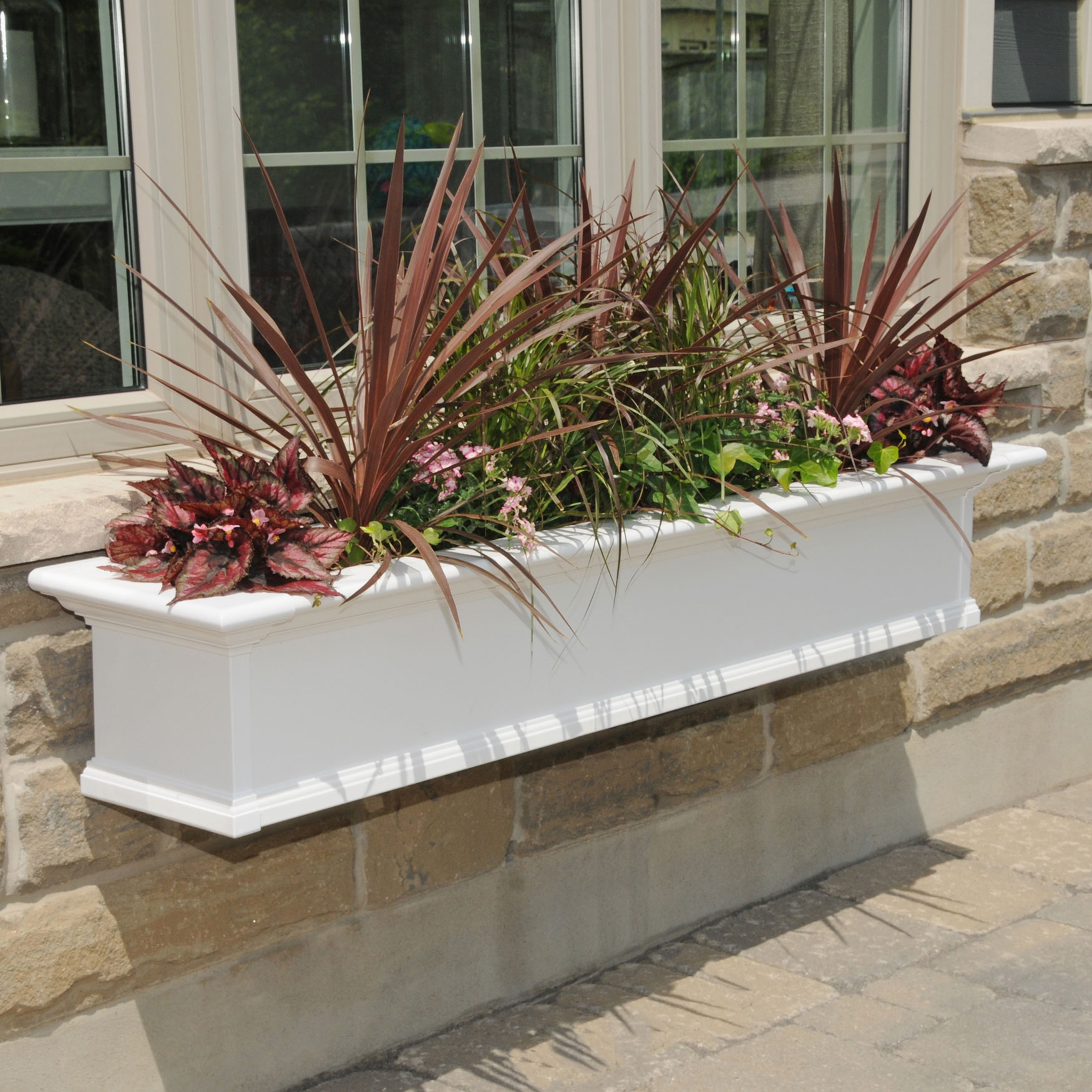 Mayne® Yorkshire 5' Window Box, WHITE