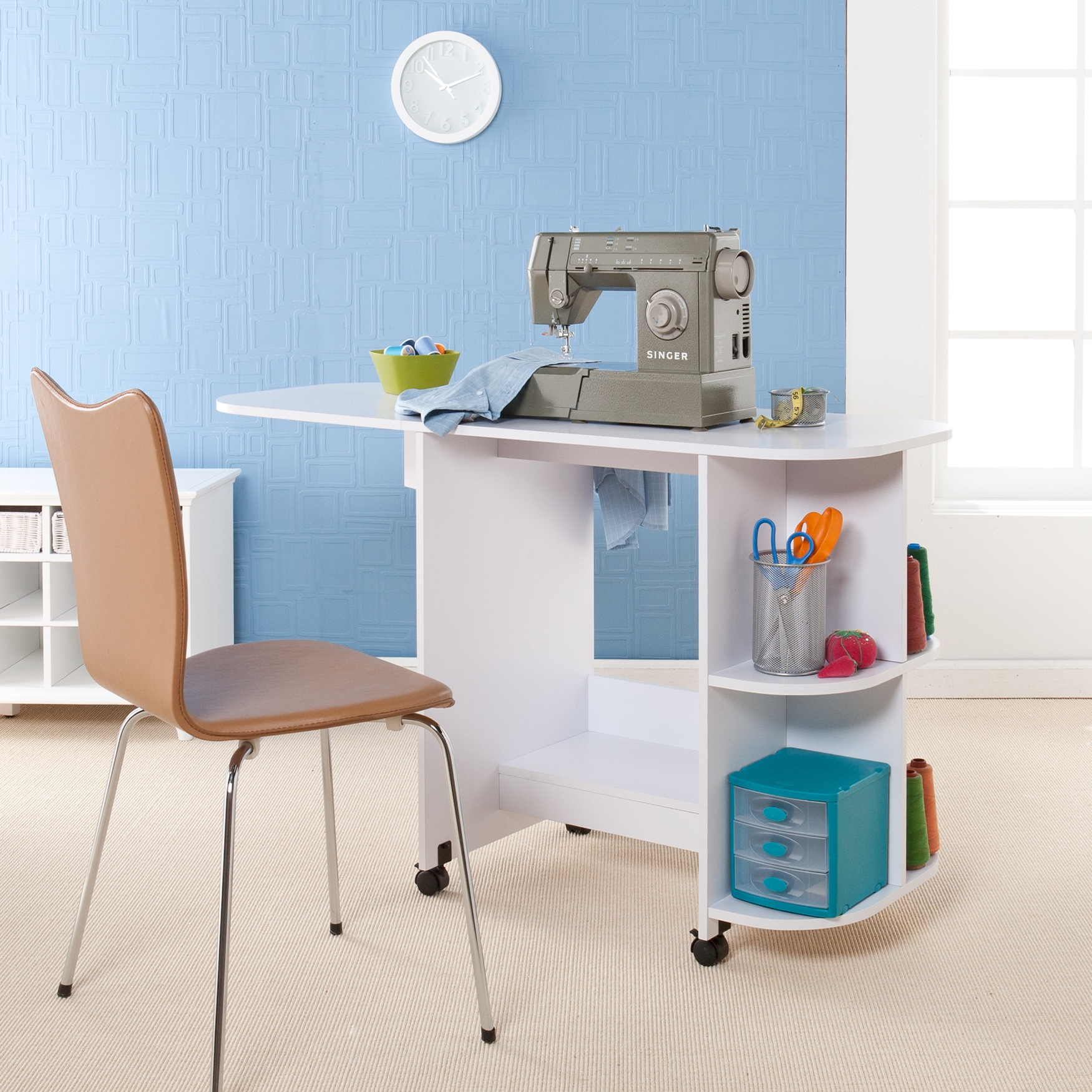 Sewing Table, WHITE